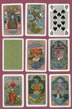 Collectible Non-standard playing cards. Persian courts,